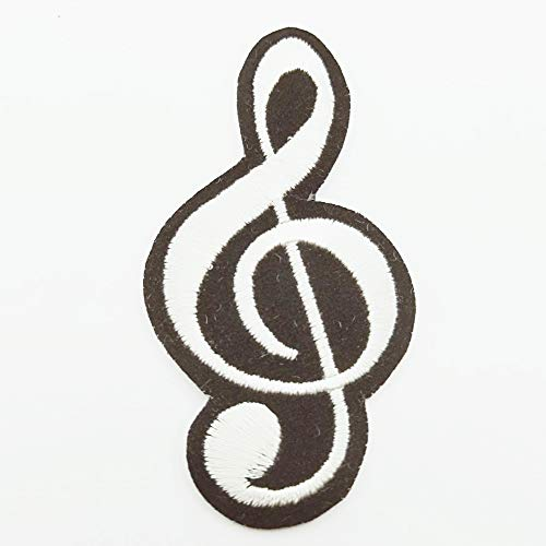 Music Applique Musical Embroidered Classical Scale Symbol Cleft Dancing Rocker Record Notes Eighth Symphony Appliques Iron-on Cute Cloth