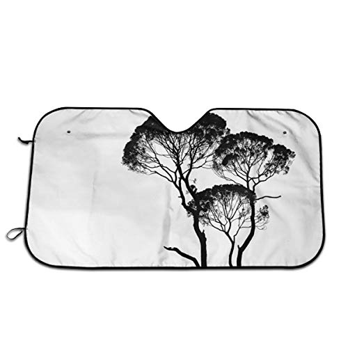 JML-LUV Silhouette Photo of Trees Windshield Sun Shade Sail Universal Fit Car Sunshade Protection - Keep Your Vehicle Cool. UV Sun and Heat Reflector (Size: 30