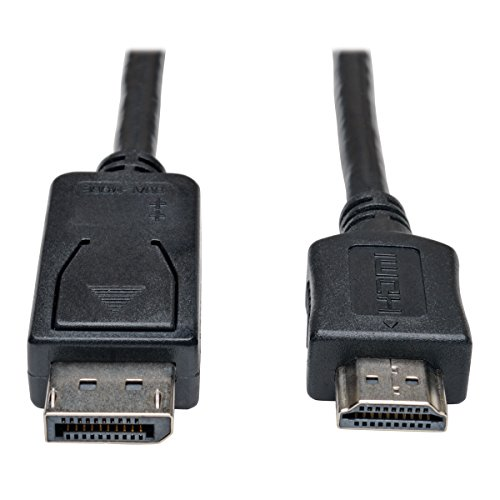 TRIPP Lite DisplayPort to HDMI Cable Adapter, DP to HDMI (M/M), DP2HDMI, 1080P, 3 ft. (P582-003) -