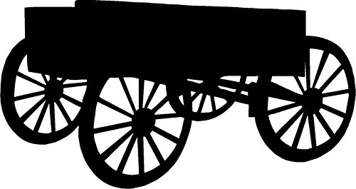 Stagecoach Wagon Decal, Decal Sticker Vinyl Car Home Truck Window Laptop