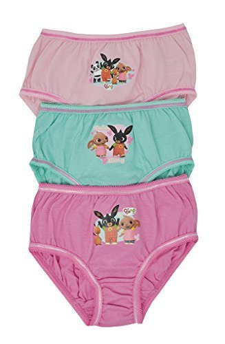 Aumsaa Girls Bing Kids Characters 100/% Cotton Briefs Underwear Slips Knickers 3 Pack