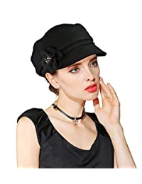 EINSKEY Womens Beret Hat Winter Wool Felt Cloche Bowler Hat Cabbie Newsboy Cap