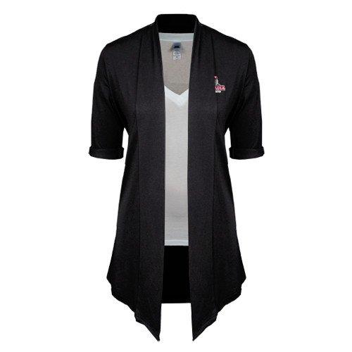 Arcadia Ladies Black Drape Front Cardigan 'Arcadia Knights Stacked'