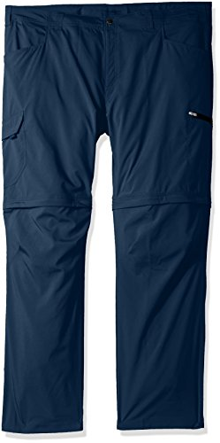 Columbia Silver Ridge Stretch Big & Tall Convertible Pants, Whale, 44x36 by Columbia