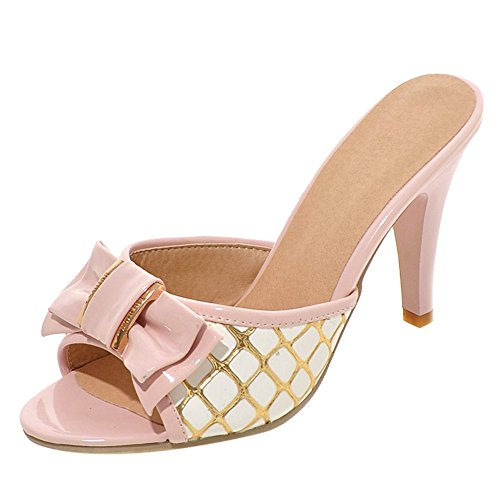 Aiguille Mules JOJONUNU Sandales Pink Femmes 4XxqwS