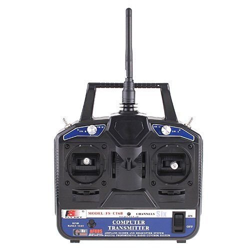 FlySky 2.4G FS-CT6B 6 CH Radio Model RC Transmitter+ Receiver For Helicopter/Airplane/Quad