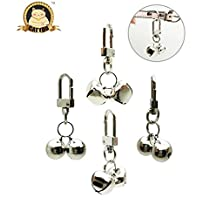 CatYou 4 Sets Pet Small Bells for Collar, Pet Ornament, Bell Training Pendants Jewelry for Pet Cat Dog Necklace Collar (4 Sets Small Bells)