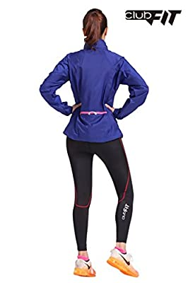 ClubFit Women's Ultra Light Activewear Jacket with Light Reflective Material and Earphone Loops