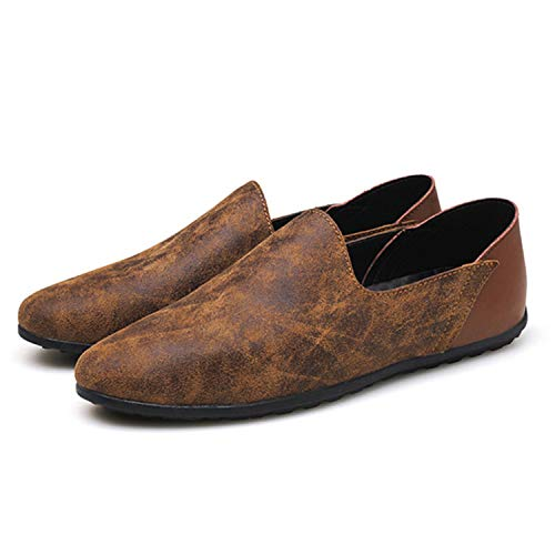 Mocassini Mens Successg 48 Basse da Casual On da Brown Autunno Pelle Vera Shoes 38 Scarpe Uomo Mocassini Uomo Size Primavera Big Slip Scarpe in r1r0f