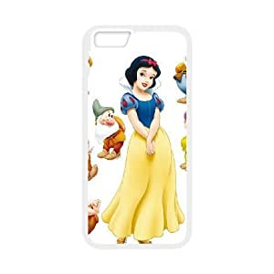 Snow White and Seven Dwarfs For iPhone 6 Plus 5.5 Inch Case Cell phone Case Nvzx Plastic Durable Cover
