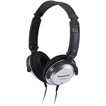 Panasonic Over-the-Ear Stereo Headphones RP-HT227 (Black & Silver) Integrated Volume Controller, Travel-Fold Design