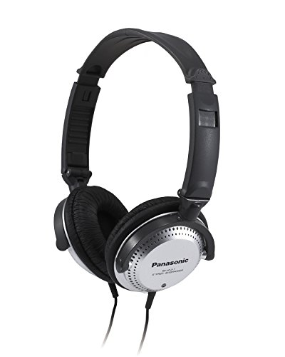 PANASONIC Stereo Headphones with XBS Port, Integrated Volume Controller and Lightweight Foldable Design – RP-HT227-K – Over the Ear Headphones (Black & Silver)