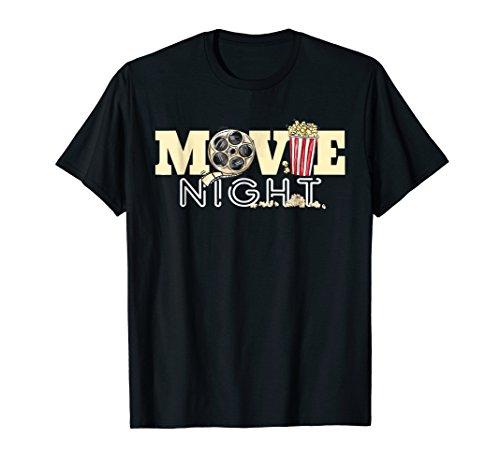 Movie Night T-Shirt Family Movie Night Shirts Popcorn Tees