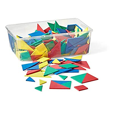 han2mind Foam, Tangram, Pattern Block Manipulative Set for Math Puzzles (Pack of 28): Industrial & Scientific