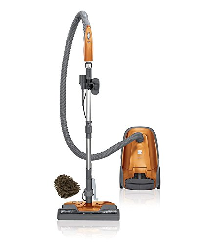 Kenmore Canister Vacuum Cleaner - 81214 Kenmore 200 Series Bagged Canister Vacuum, Orange Cleaner in Bags and Filters (Complete Set) w/Bonus: Premium Microfiber Cleaner Bundle
