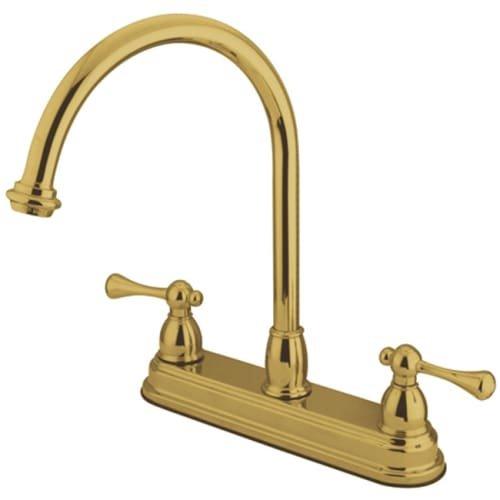 """UPC 663370056178, Kingston Brass KB3742BL Vintage 8"""" Centerset Kitchen Faucet without Sprayer, Polished Brass"""