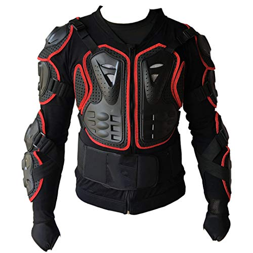 (Professional Cross Bike Body Armor Motor Sports Protection Jacket Downhill Mountin Bike Armor CE Approved Motorcycle Jacket RED M)