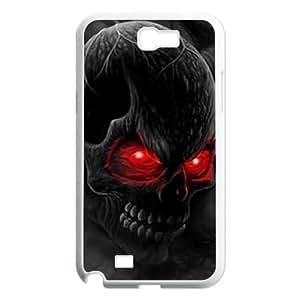 WKSHOP Beautiful Samsung Galaxy Note 2 N7100 case The Skull Customized Bumper Plastic Hard Case wk201823