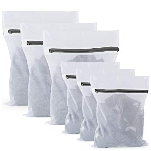 COMSUN Mesh Laundry Bags Set of 6, Delicates Laundry Bags Set for Washing Sweater Underwear Bra