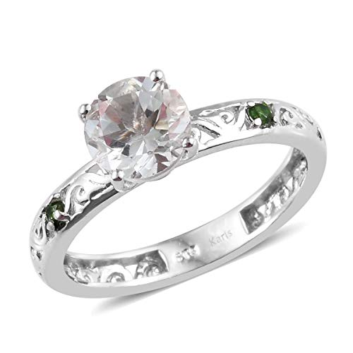 Shop LC Delivering Joy Green Amethyst Chrome Diopside Statement Ring for Women Jewelry Gift Size 9 Cttw 1.6
