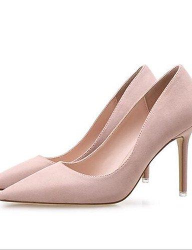 GGX  Damenschuhe-High Heels-Lässig-PU-Blockabsatz-Absätze-Schwarz   Rosa   Rot