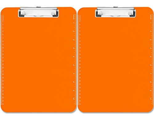 Sparco Plastic Clipboard Inches Orange