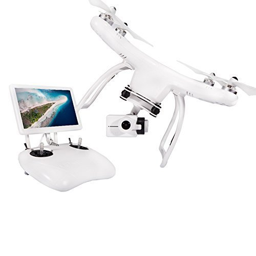 UPair One 2.7K Camera and GPS Drone with 7 inch FPV Screen, Quadcopter