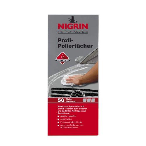 NIGRIN 73898 Profi Poliertücher Spenderbox a 50 Tücher