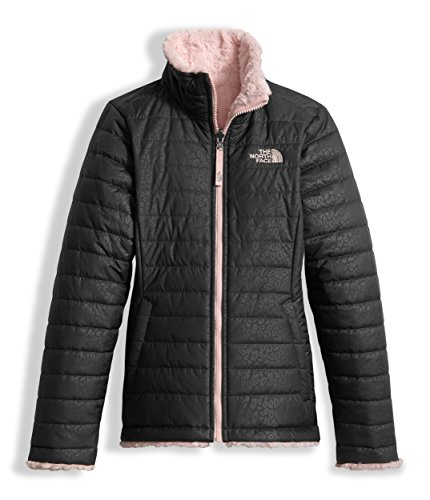 Girl's The North Face Reversible Mossbud Swirl Jacket Graphite Grey Size Large
