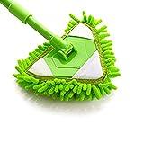Multifunction Microfiber Mop, Floor Cleaning Mop Pad,New Mop for Floor Steamer,Tile Cleaner,and Hard Wood Floor Cleaner,Spray Water Spraying Flat Dust Mop(green)