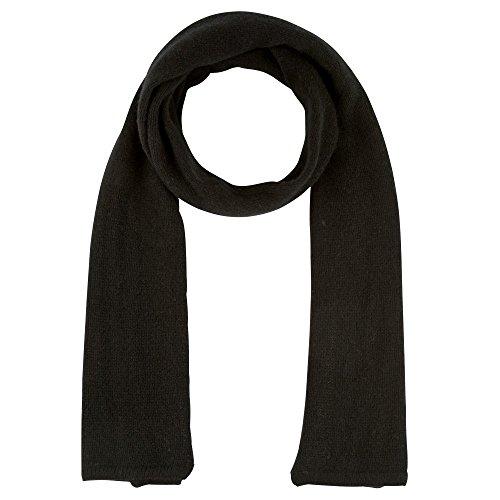 Womens 100% Cashmere Scarf 4 Plys Volume 172 cm x 29cmClassics - Black by LES POULETTES