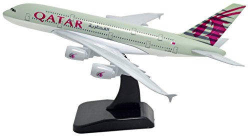 TANG DYNASTY(TM) 1:400 Standard Edition Air Bus A380 Qatar Airways Metal Airplane Model Plane Toy Plane Model