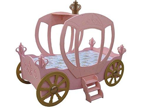 MaximaHouse CB2207 Princess Carriage Toddler Car Bed, Pink