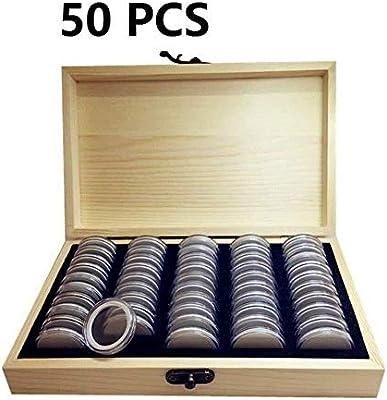 Apilable Caja de almacenamiento de monedas, caja de colección conmemorativa de exhibición de madera Soporte de colección de monedas Caja de exhibición de monedas Organizador Contenedor for coleccionis: Amazon.es: Hogar