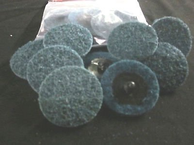 """20pc FINE 2"""" SURFACE PREP CONDITIONING SCOTHBRITE ROLOC SANDING DISCS GRINDING from IIT"""
