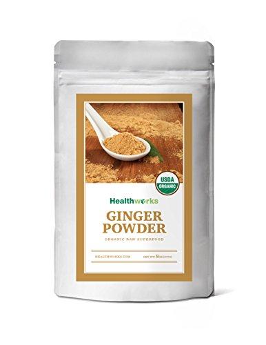 Healthworks Ginger Powder Raw Organic, 8 Ounce