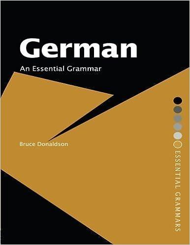 German: An Essential Grammar (Routledge Essential Grammars) by Bruce Donaldson (2006-12-21)