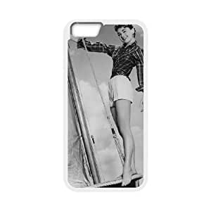 Audrey Hepburn iPhone 6 Plus 5.5 Inch Cell Phone Case White yyfabb-128134