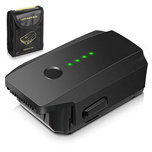 Mavic Pro Battery, FlyHi 11.4V 3830mAh Intelligent Flight LiPo Replacement Battery + Battery Safe Bag for DJI Mavic Pro & Platinum & Alpine White Drones (Not Fit for Mavic 2)