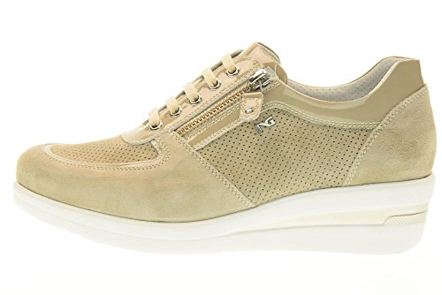 NERO GIARDINI zapatillas de deporte de las mujeres bajas con P717951D cuña / 410 Sand
