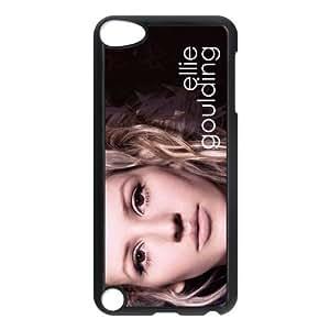 CTSLR Ellie Goulding Hard Case Cover Skin for iPod Touch 5 5G 5th Generation- 1 Pack - Black/White - 5