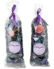 Fresh Scent Potpourri Petal Bowl and Vase Filler Home Decor 2 Large Bags 120 Grams Each