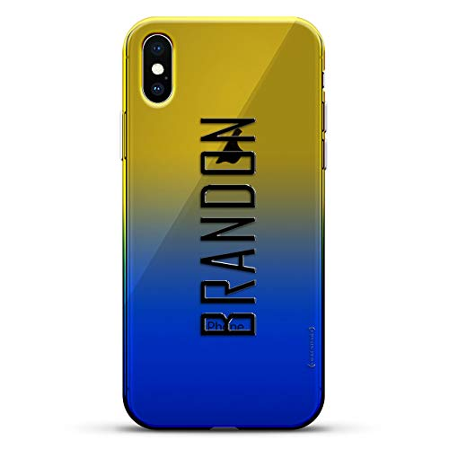 NAME: BRANDON, MODERN  FONT STYLE | Luxendary Gradient Series Clear Ultra Thin Silicone Case for iPhone Xs/X (5.8
