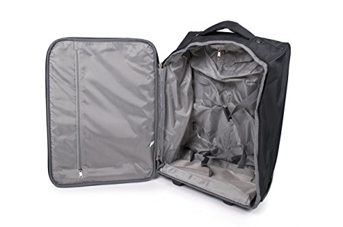 Cabin Taschen für Easyjet Reise Rollkoffer für die meisten Fluggesellschaften - tragen auf Taschen (schwarz)