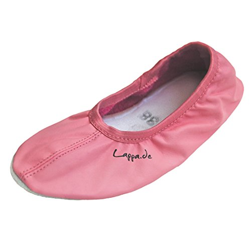 Zapatillas de gimnasia, Zapatillas de ballet, zapatillas de ballet, Zapatillas de ballet de vuelta, Zapatos de danza con Suela de goma. blanco Art. N246GG Multicolor - rosa 244G