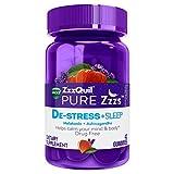 ZzzQuil Pure Zzzs De-Stress & Sleep Melatonin Gummies, 42 ct, with Ashwagandha, Chamomile, Lavender