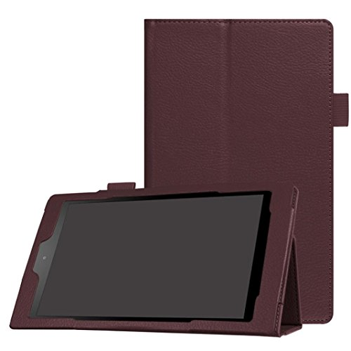 Photo - GBSELL New Folio Case Leather Stand Cover For Amazon Fire HD 8(6th Gen, 2016) (Brown)
