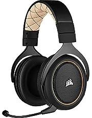 Corsair HS70 Pro Wireless Gaming Headset (7.1 Surround Sound, Ultra lage latency, 12 meter bereik, vederlicht ontwerp, afneembare ruisonderdrukkende microfoon, voor PC en PS4) Zwart/Creme