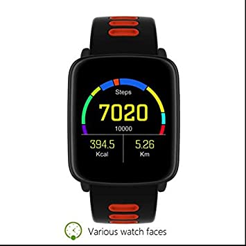 Podómetro Fitness Running reloj inteligente, Smartwach Smartwatch para Apple Samsung HTC iPhone, Excercise Smartwatch