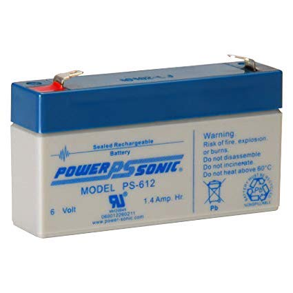 Power Sonic Battery Lead Acid - Power-Sonic PS-612 6 Volt 1.4Ah Rechargeable Sealed Lead Acid Battery